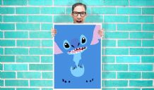 Disney lilo and stitch Art - Wall Art Print Poster   -  Poster Geekery